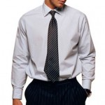A tailor could reduce the bagginess on the side of this shirt