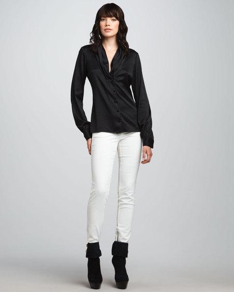 white corduroy pants women - Pi Pants