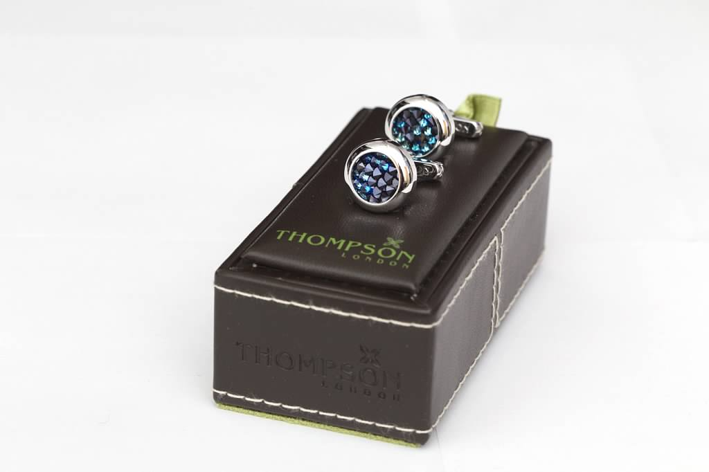 Jeweled Blue Cufflinks