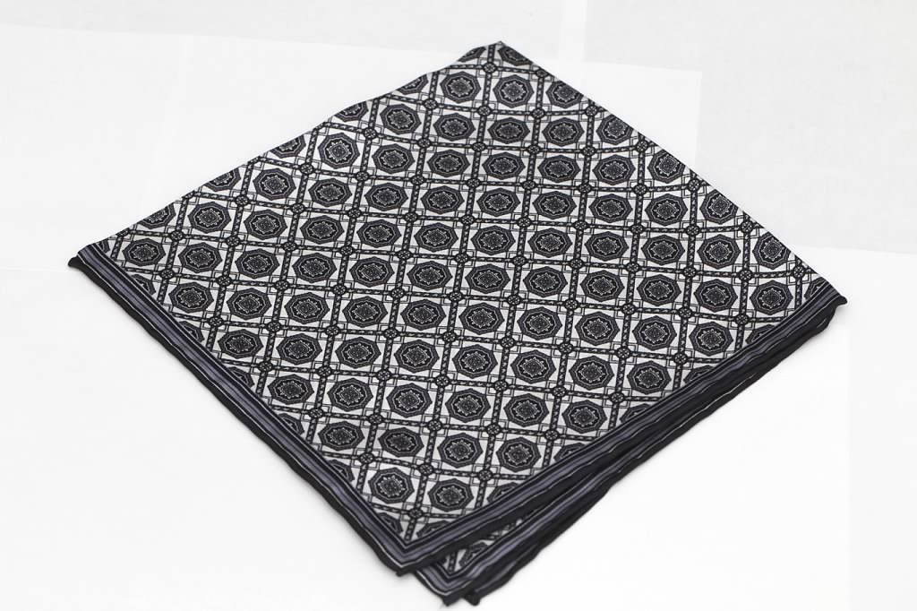 Black and White Pocket Square