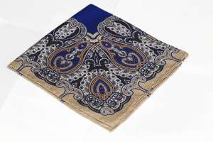 Blue Pattern Pocket Square