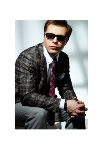 Plaid Sport Jacket & Tie