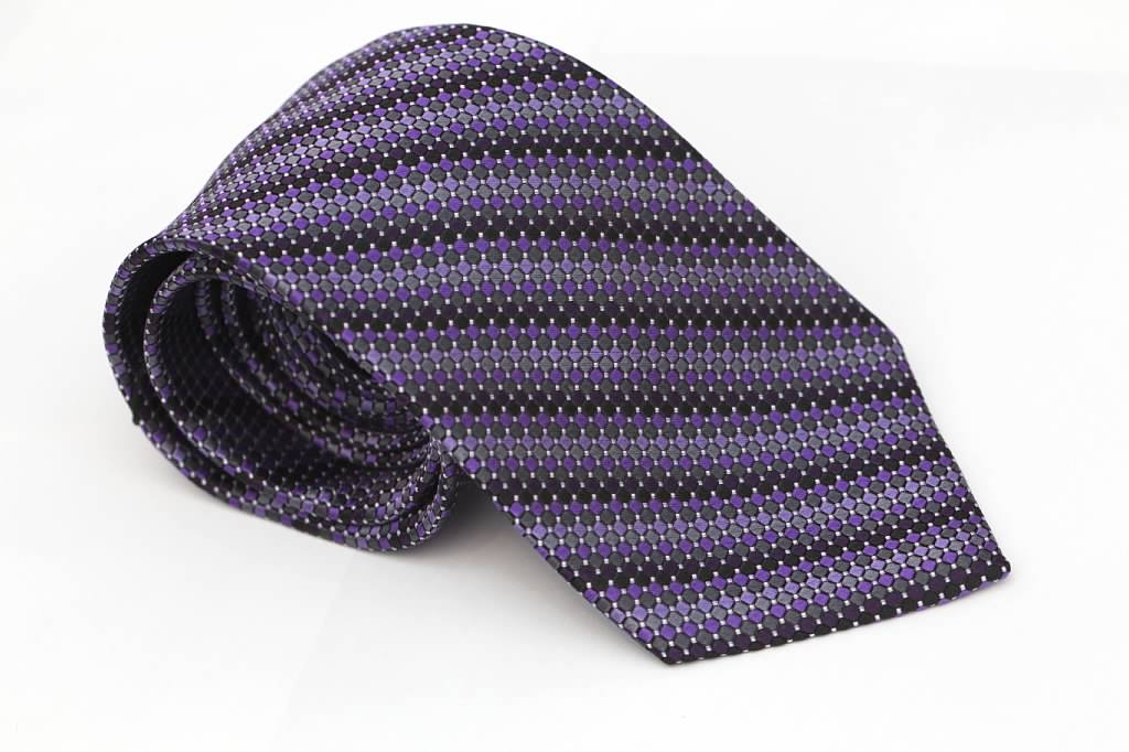 Purple Dotted Tie