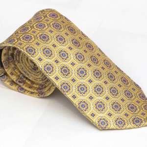Gold Medallion Tie