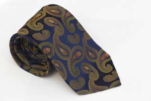 Blue Green Paisley Tie