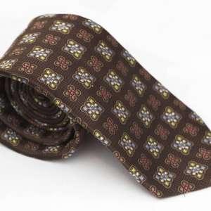 Brown Woven Tie