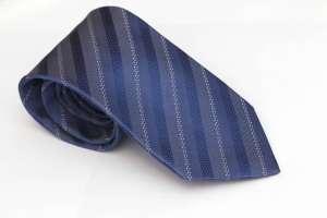Azure Blue Striped Tie