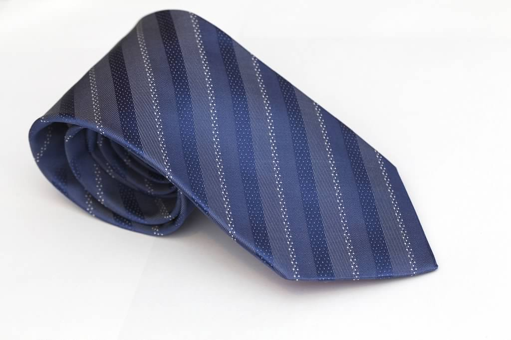 Azure Blue Striped Tie