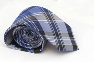 Blue Plaid Tie