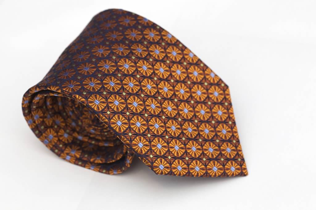 Orange Sunburst Tie