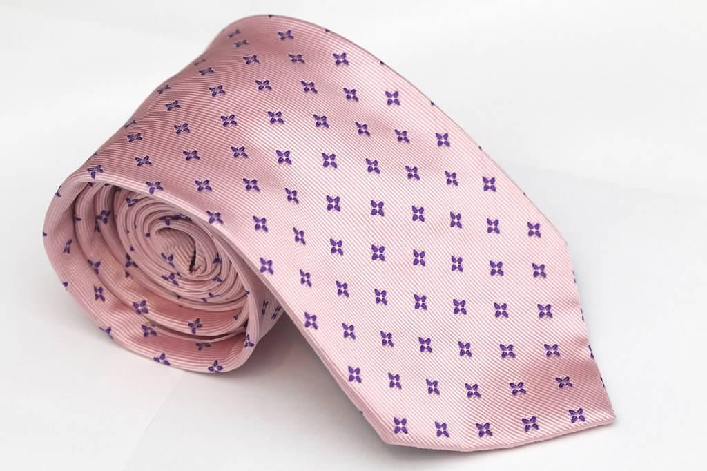 Pink Twill Tie