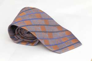 Light Blue and Orange Tie