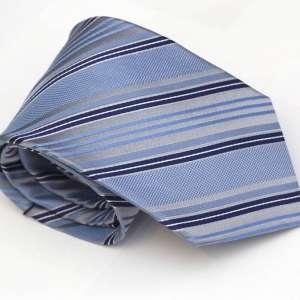 Silver Blue Tie