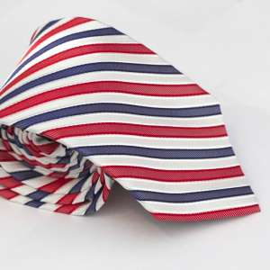 Red, white and blue Tie