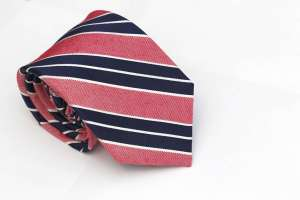 Navy and Red Striped Tie