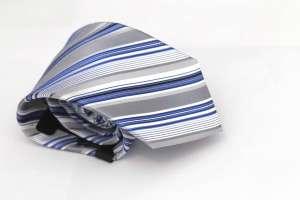 Gray Striped Tie