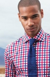 Plaid Shirt, Textured Tie