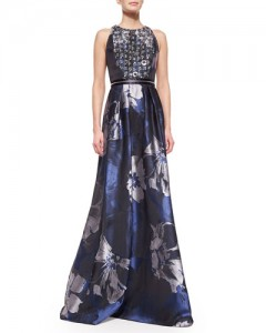 Blue Badgley Mischka Gown