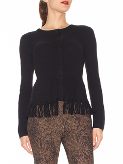 Black Fringed Sweater