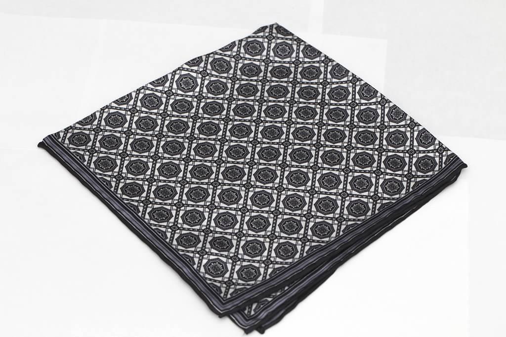 Black and White Pocket Square