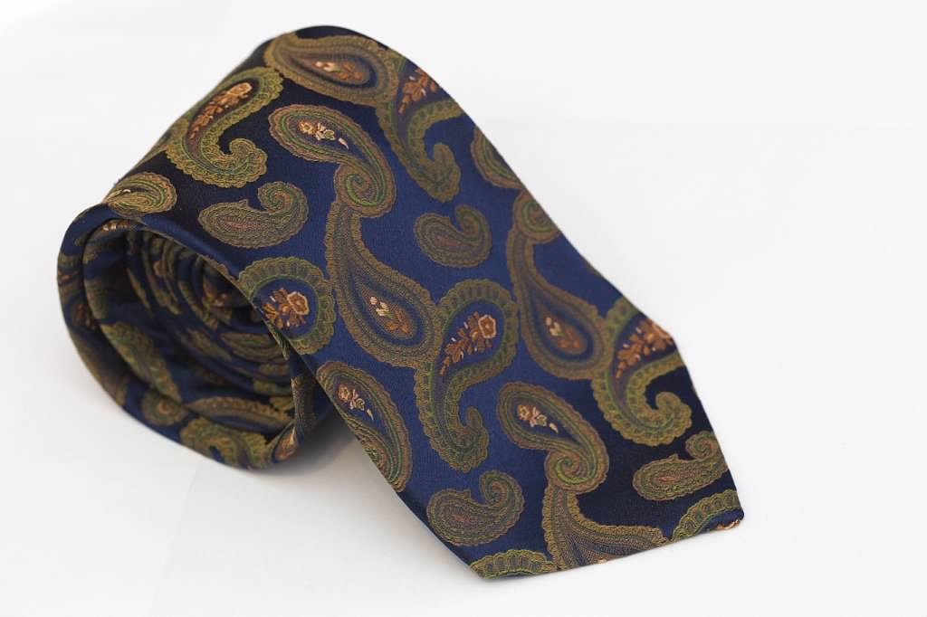 Blue Green Paisley Tie