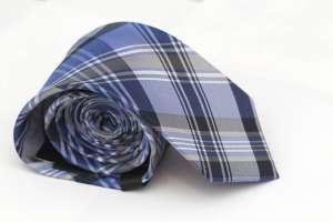 Blue Plaid Tie