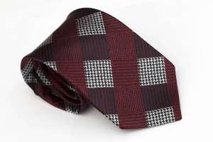 Maroon Jacquard Tie