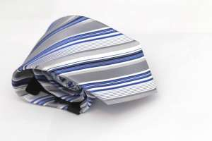 Gray Striped Tie
