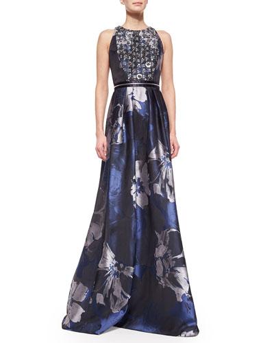Blue Badgley Mischka Gown