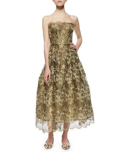 Gold Lace Oscar de la RentaGown